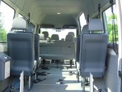Spezialfahrzeug für Rollstuhltransport-Haltesystem